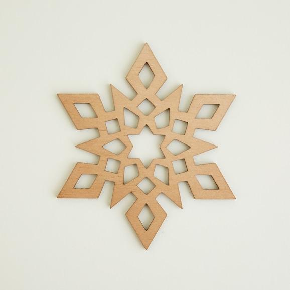 【写真】木製コースター snowflake 1