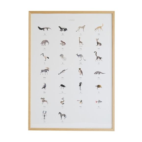【写真】【定番品】ドゥローム・カオリ 「Alphabet Art Print」