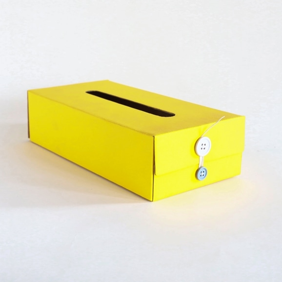 【写真】Button Tissue Box イエロー