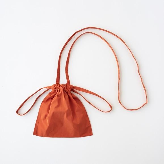 【写真】Drawstring Bag Strap オレンジ XS