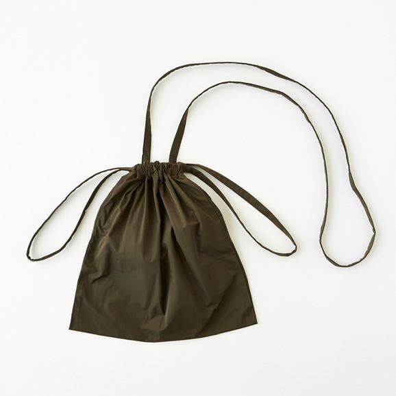 【写真】Drawstring Bag Strap カーキ SS