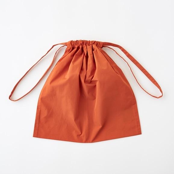 【写真】Drawstring Bag オレンジ