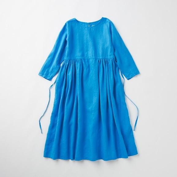 【写真】POOL いろいろの服 ギャザーワンピース シーブルー