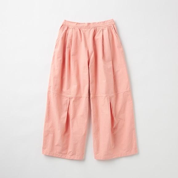 【写真】POOL いろいろの服 ニータックワイドパンツ コーラル