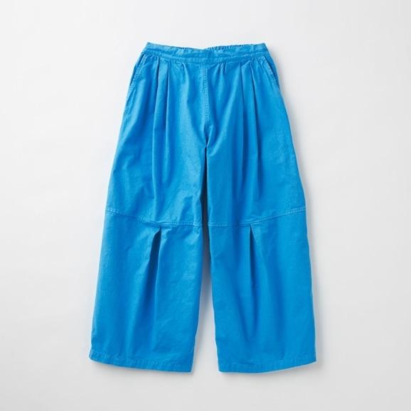 【写真】POOL いろいろの服 ニータックワイドパンツ シーブルー