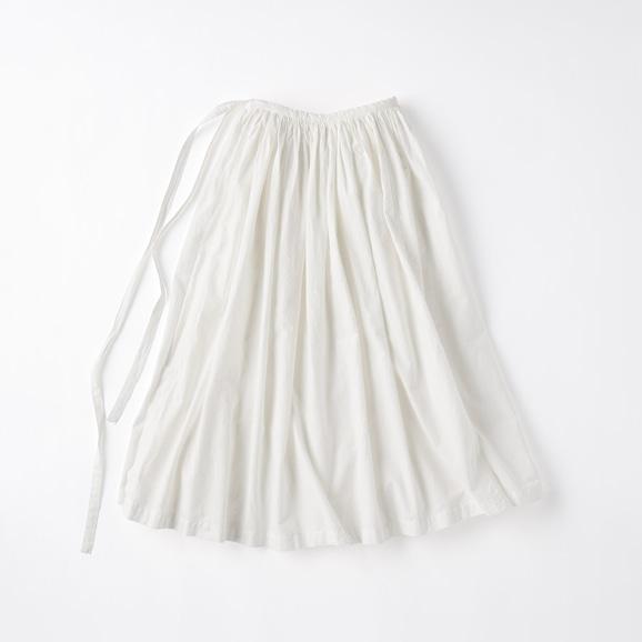 【写真】POOL いろいろの服 巻きギャザーエプロン ホワイト