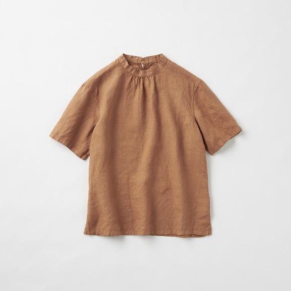 【写真】POOL いろいろの服 スタンドカラーブラウス ブラウン