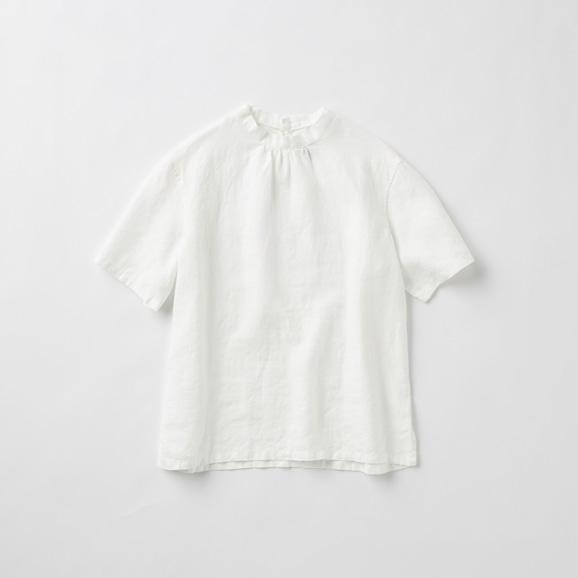 【写真】POOL いろいろの服 スタンドカラーブラウス ホワイト