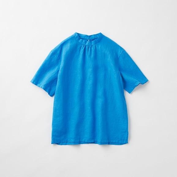 【写真】POOL いろいろの服 スタンドカラーブラウス シーブルー