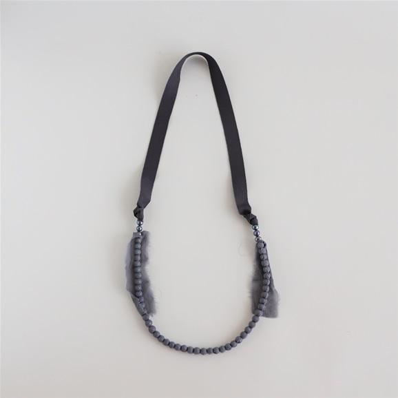 【写真】sai Necklace Pearl Gray
