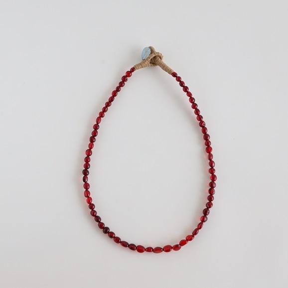 【写真】sai Necklace Red Amber