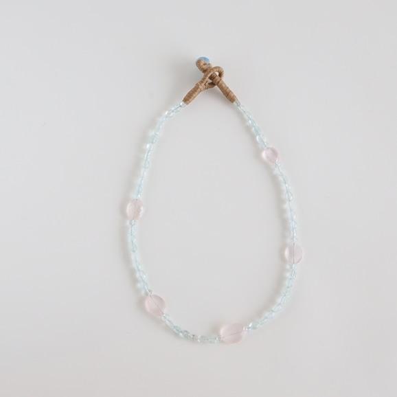【写真】sai Necklace Aquamarine & Rose Quartz