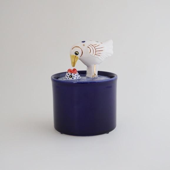 【写真】【定番品】Lisa Larson Jar with Lid bird & fish