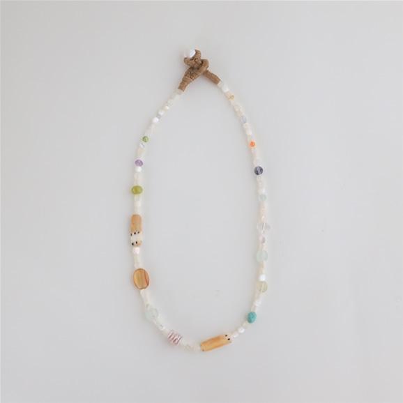 【写真】sai Necklace Shell,Carnelian,Turquoise,Amethyst & Iolite