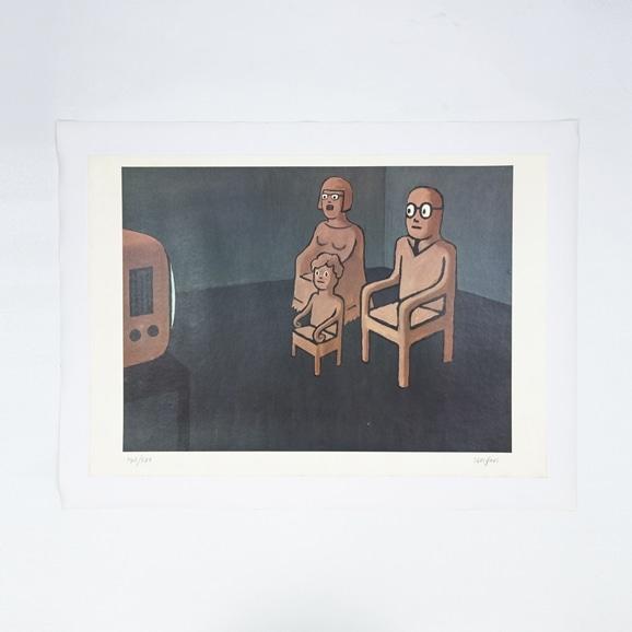 【写真】【Auction #01】Reymond Savignac ポスター「le tele」(直筆サイン付)