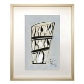 サトウアサミ 「細かい模様のある寸胴のグラス」