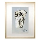 サトウアサミ 「面にひし形の模様のあるグラス」
