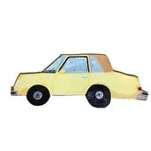 【一点物】そで山 かほ子 「YELLOW CAR」