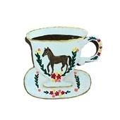 【一点物】そで山 かほ子 「horse tea cup」