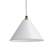 PORCELAIN ENAMELED IRON LAMP White