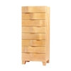 WAVE TALL CHEST Maple