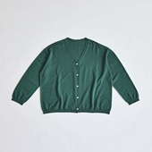 H& by POOL Wool Cardigan Dark Green 2021AW