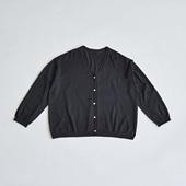 H& by POOL Wool Cardigan Black 2021AW