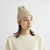 H& by POOL Cashmere Knitted Hat Beige 2021AW
