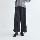 H& by POOL Wide Pants Black 2021AW