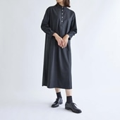 H& by POOL One-Piece Shirt Windowpane Black 2021AW