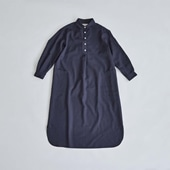 H& by POOL One-Piece Shirt Navy 2021AW