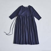 H& by POOL Gathered One-Piece Navy 2021AW