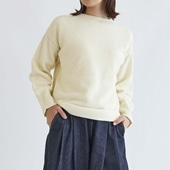 H& by POOL Wool Sweater L Ivory 2021AW