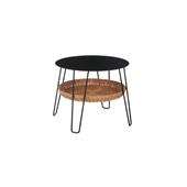 【新サイズ】WALLABY LOW TABLE ROUND Black