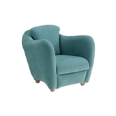 MINI MILLER ARM CHAIR Blue Gray