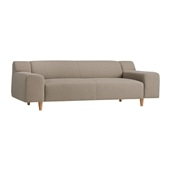 PLAISIR SOFA Taupe Gray