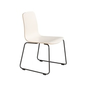 LANGUE STACKING CHAIR White