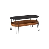 WALLABY LOW TABLE OVAL Black