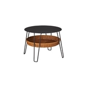 WALLABY LOW TABLE ROUND Black