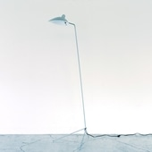 LAMPADAIRE 1 LUMIERE Silver /Serge Mouille