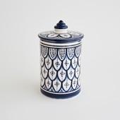 【モロッコ買付品】陶器キャニスター L ネイビー
