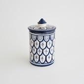 【モロッコ買付品】陶器キャニスター S ネイビー