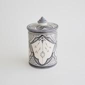 【モロッコ買付品】陶器キャニスター L グレー