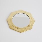 【モロッコ買付品】真鍮ミラー 八角形 L