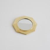 【モロッコ買付品】真鍮ミラー 八角形 S
