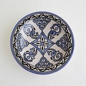 【モロッコ買付品】飾り皿 ブルー