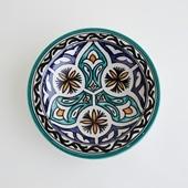 【モロッコ買付品】飾り皿 グリーン