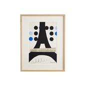 柚木沙弥郎 「雨上がりのパリ」