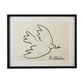 【定番品】パブロ・ピカソ 「Dove of Peace」ブラックフレーム