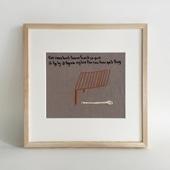 【一点物】モン族の刺繍アート「ワーチュンと2人妻 001/5」